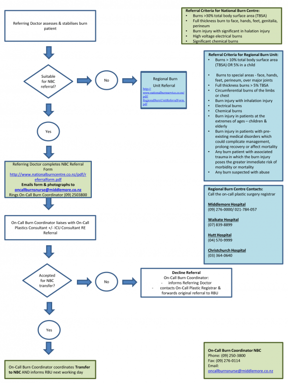 Image of referral flow chart document